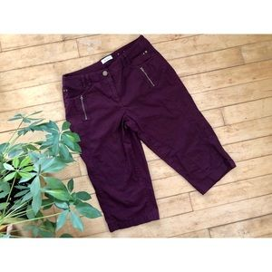 ✨2 FOR $22 Burgundy / Purple Capris
